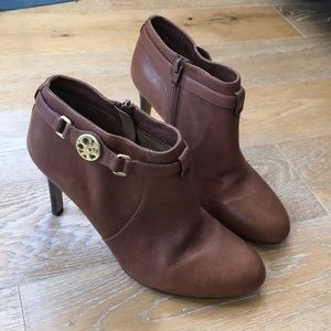 Coach Salene Brown Leather Ankle Bootie